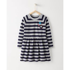 Hanna Andersson Striped Dress In French Terry